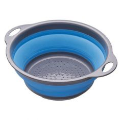 Kitchen Craft | Collapsible Colander, 28 x 24 x 9 cm Blue