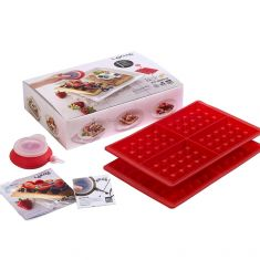Lekue | Waffle Mold | Set Of 2 Mould with Decopen