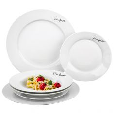 6-Piece Round Dining Plate Set