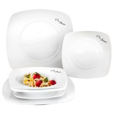 6-Piece Square Dining Plate Set
