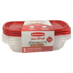 Rubbermaid | Plastic | Take Along Food Container 3 Pc