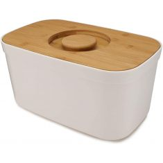 Joseph joseph|Bread Bin with Cutting Board Lid|One Size|White