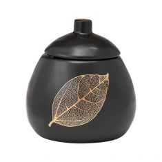 Ashdene | Lantana Black & Gold Sugar Bowl