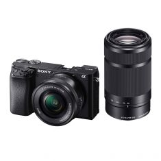 Sony | ILCE-6100Y | α6100 APS-C | Camera With Fast AF  | Body + Zoom Lenses (16-50mm & 55-210mm)