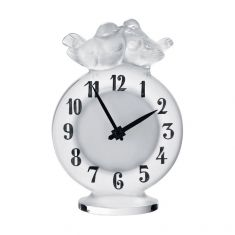 Lalique Antoinette Clock | Clear Crystal