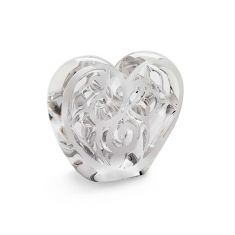 Lalique | Crystal Music Is Love Heart Sculpture Clear