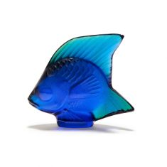 Lalique | Cap Ferrat Blue Fish Sculpture