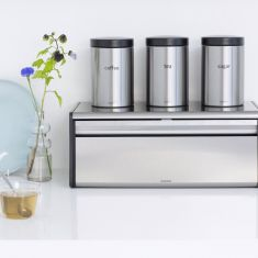 Brabantia Canisters Set of 3, 1.4 liter - Brilliant Steel
