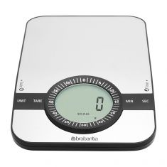 Brabantia Kitchen Scale with Timer - Matt Steel