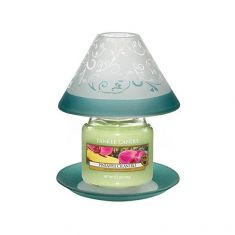 Yankee Candle | Teal Vine Lampshade | Large Plate | White / Green