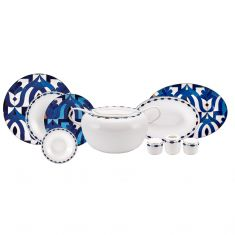 Karaca | Fine Pearl Azur | Dinner Set | 62 pcs