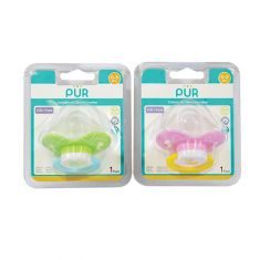 Pur | Day time soothers with orthodontic silicone teatswith Cover (3 mths+)