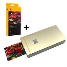Kodak | Printer Pm210 Gold +  All-In-One Mini Cartridge 20 Sheets Paper