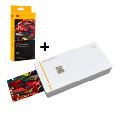 Kodak | Printer Pm210 White + All-In-One Mini Cartridge 20 Sheets Paper