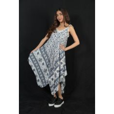 Elephant Print Maxi Slip Dress