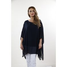 Black Flowy Batwing top