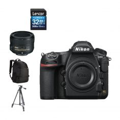Nikon D850 DSLR | 50mm LENS + BACK PACK + 32GB SD CARD + TRIPOD