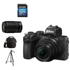 Nikon | Z50 | Mirrorless | 16-50mm VR Lens | 50-250MM +  CAMERA CASE + 32GB SD CARD + TRIPOD