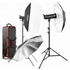 Godox | Studio 2 head Kit  | SK400II |  2 Sofbox |  2 Stands |  1 bag  | XT 16 transmitter