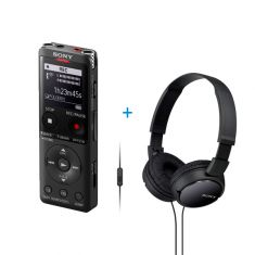 Sony | ICD-UX570 | Digital Voice Recorder UX Series + MDR-ZX11 Headphone Bundle