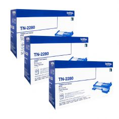 Brother | TN-2280 | Toner | 2600 Pages | Bundle Set Of 3